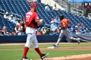 Stephen Strasburg gives up rare home run in Washington Nationals' 8-3 win over the Miami Marlins...