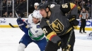 Four different Golden Knights score in easy victory over Canucks