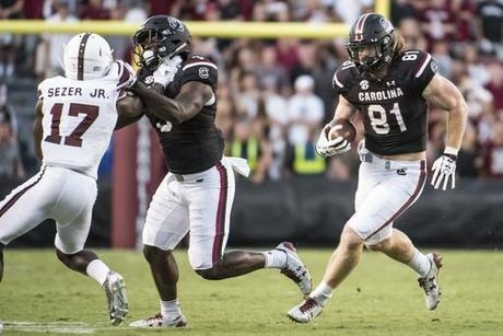 Saints visiting South Carolina tight end Hayden Hurst next week: source