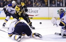 Bad bounce puts Blues down 1-0 after first period