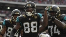 Allen Hurns being pursued by Cowboys, Jets, Ravens, and Browns