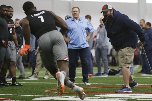 Bill Belichick, Matt Patricia team up again to coach NFL Draft prospects at Ohio State's pro day