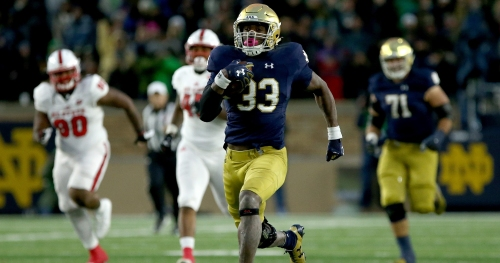 Notre Dame RB Josh Adams impresses with 40-yard dash time at Pro Day