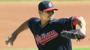 Cleveland Indians' Carlos Carrasco OK after getting hit in foot by line drive