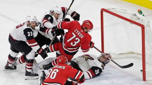 Hurricanes beat Coyotes after giving up weird goal