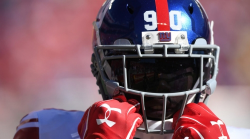 Bucs' Jason Pierre-Paul gets emotional in introductory press conference in Tampa Bay