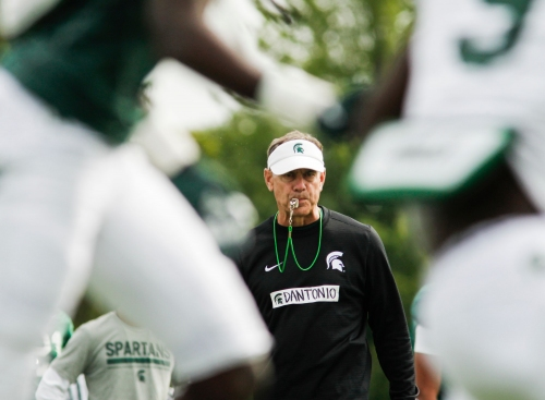 Michigan State football's first scrimmage shows more to work on