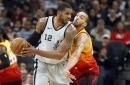 Aldridge has career-high 45 points, Spurs beat Jazz in OT