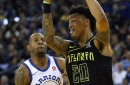 Hawks compete but fall 106-94 to Warriors