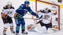 Sutter scores twice to lead Canucks past Ducks