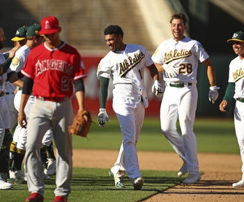Semien's game-ending single in 11th lifts A's over Angels
