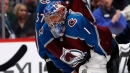 Varlamov strong before exiting as Avalanche rout Blackhawks