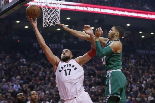 Raptors overwhelm Celtics 78-96