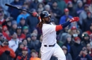 Watch Boston Red Sox walkoff hit: Hanley Ramirez lines bases loaded single over Carlos Gomez's head for 12-inning win