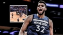 Video: Karl-Anthony Towns abuses Jamal Murray at the post for a powerful jam