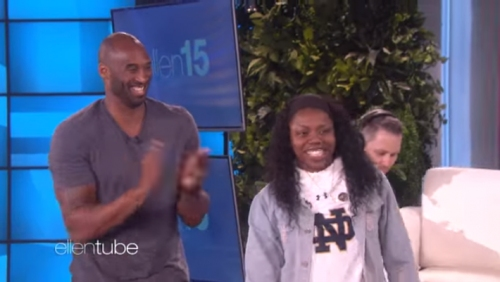 Notre Dame's Arike Ogunbowale Gets Surprised By Kobe Bryant