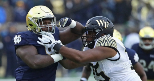 Notre Dame defensive lineman Jay Hayes will transfer