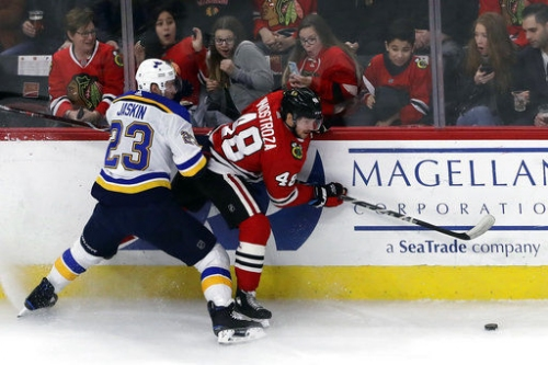 Blues win, improve playoff chances going into final game