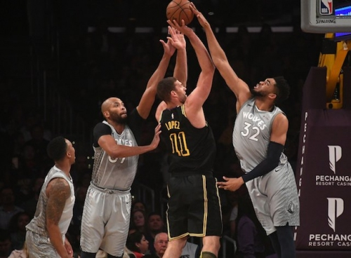 Kyle Kuzma Lost To Sprained Ankle, Lakers Fall To Timberwolves Despite Brook Lopez's Hot Start