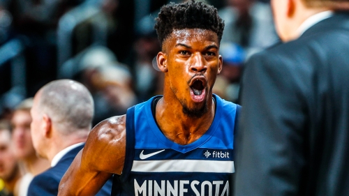 Video: Jimmy Butler doesn't miss a beat, moves in sync with Jamal Crawford