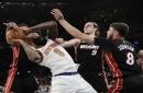 Rookie Dotson scores 30, Knicks blow out Heat 122-98