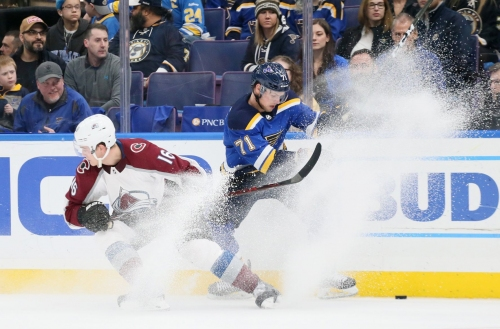 Blues fall behind 1-0; Tarasenko misses most of first period with injury