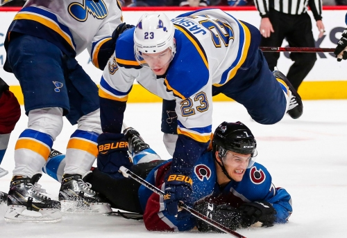 Blues' season ends with loss to Avs