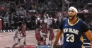 Video: Anthony Davis reacts to own teammate being posterized