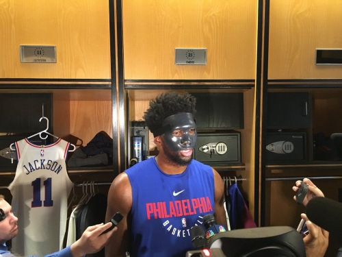 Embiid says he's unlikely to play in Game 1 for 76ers
