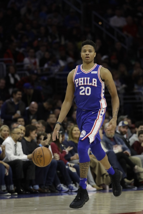 Markelle Fultz gets triple-double and a hug from T.J. McConnell; Sixers clinch East third seed