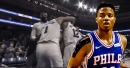Video: Markelle Fultz gets instantly mobbed by teammates after securing triple-double