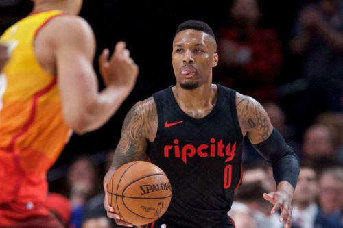 Damian Lillard Leads Blazers Past Jazz, into 3rd Seed