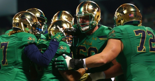 Liam Eichenburg expected to be starting left tackle for Notre Dame