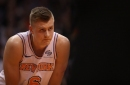 Porzingis says focus is on his knee not Knicks' coaching search