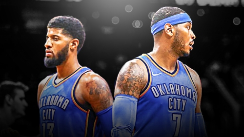 Carmelo Anthony endorses new Paul George playoff nickname 'Playoff P'