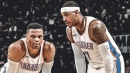 Carmelo Anthony thinks he helps Russell Westbrook relax