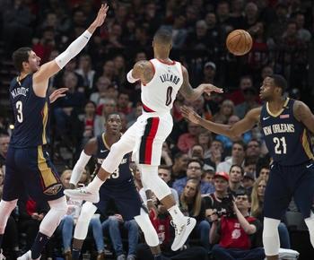 Blazers seek tie vs Pelicans, Raptors aim for rare 2-0 lead