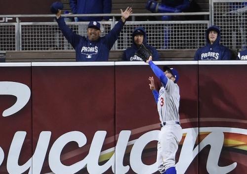 Dodgers News: Chris Taylor Had 'Pretty Good' Read On Catch To Rob Padres' Christian Villanueva Of Home Run