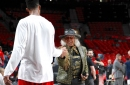See what Anthony Davis wore to the arena for Game 2 against Blazers