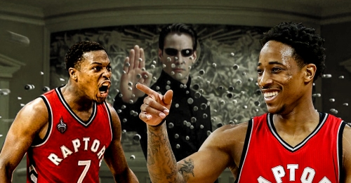 Video: Kyle Lowry loses it after DeMar DeRozan called himself 'Neo'