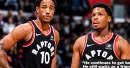 Kyle Lowry throws light shade at DeMar DeRozan while praising him