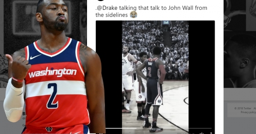 Video: Drake trash talks Wizards' John Wall on sidelines of Game 2