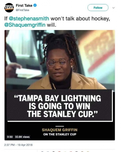 Shaquem Griffin: 'Lightning is going to win the Stanley Cup'