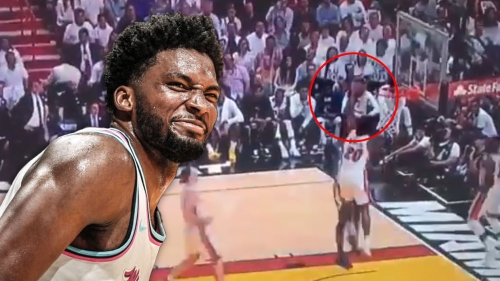 Heat's Justise Winslow taunts Joel Embiid after huge block