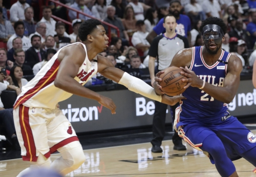 Embiid scores 23 in return as Sixers top Heat to take 2-1 lead