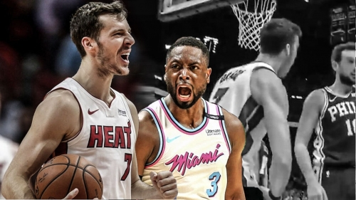 Video: Goran Dragic flexes in front of Marco Belinelli and Dwyane Wade loves it