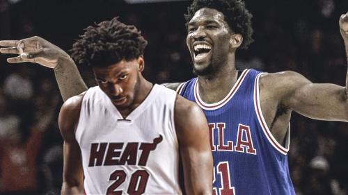 Joel Embiid responds to Justise Winslow stepping and trying to break his mask