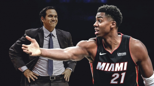 Hassan Whiteside on Erik Spoelstra: 'Coach wants me to stand in the corner and set picks'