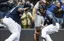 Brewers bats come alive, blast Marlins 12-3