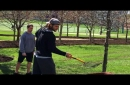 Tate Martell, Nick Bosa and Ohio State football's spring game losers do landscape work on Buckeye Grove